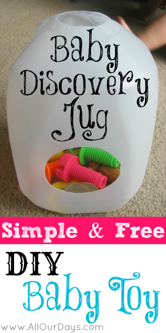 Simple & Free DIY Baby Toy: Baby Discovery Jug