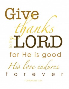 Give Thanks Free Printables