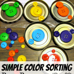 Simply Color Sorting Busy Bag (Day 22) 31 Days of Busy Bags & Quiet Time Activities @ AllOurDays.com