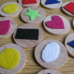 Wood & Felt Matching Game Busy Bag