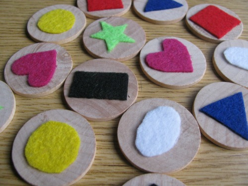 Wood & Felt Matching Game Busy Bag / Activity Bag