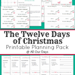 The Twelve Days of Christmas Planning Pack @ AllOurDays.com 25% Off only $1.13