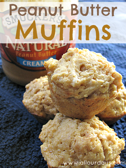 Peanut Butter Muffin Recipe @ AllOurDays.com
