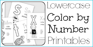 Lowercase Color by Number Printables