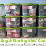 Sorting and Storing Kids' Clothes @AllOurDays.com