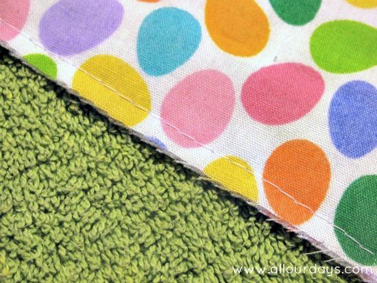 baste stitch around entire apron...Full-Coverage Child's Apron Pattern & Tutorial ©AllOurDays.com