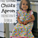 Reversible, Full-Coverage Child's Apron Free Pattern & Tutorial @ AllOurDays.com