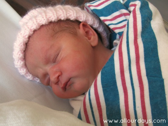 Lillian's Birth Story @ AllOurDays.com