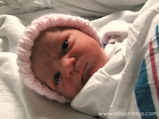 Introducing Lillian Grace (baby #5) @AllOurDays.com