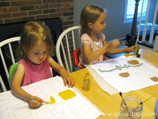 Glue Batik: Fun and Easy Kids' Craft Project @ AllOurDays.com