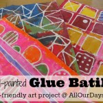 Elmer's Glue Gel Batiks: kid-friendly art project @ AllOurDays.com