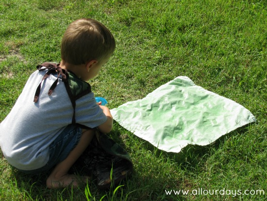 Elmer's Glue Gel Batik: fun and easy art project for kids @ AllOurDays.com