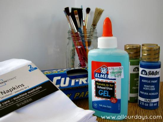 Elmer's Glue Gel Batiks: kid-friendly art project @ AllOurDays.com