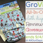 GroVia AIO Review & Giveaway @ AllOurDays.com ends 9/4/13