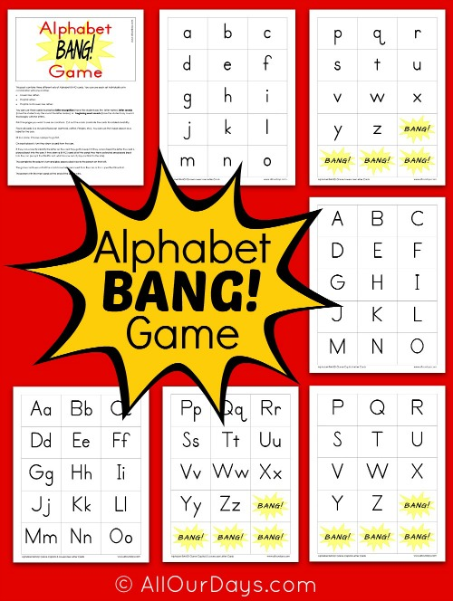 Free Printable Preschool Alphabet Games