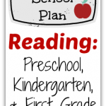 Our School Plan: Reading (Preschool, Kindergarten, and First Grade) @ AllOurDays.com