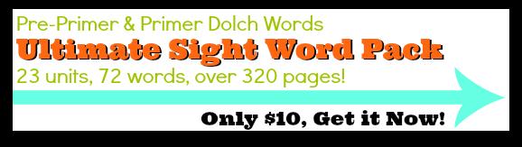Pre-Primer and Primer Ultimate Sight Word Pack @ AllOurDays.com