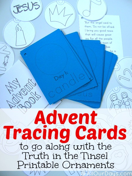 Advent Tracing Cards to Go with Truth in the Tinsel