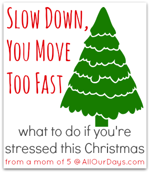 How to slow down, capture the moments, and make memories this Christmas @ AllOurDays.com