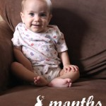Lillian 8 months: Monthly Baby Photos @ AllOurDays.com