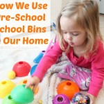 How We Use Pre-School School Bins in Our Home @ AllOurDays.com