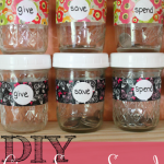 Simple DIY Give, Save, Spend Jars for Kids @ AllOurDays.com