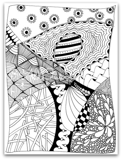 Free Coloring Pages Of Zen