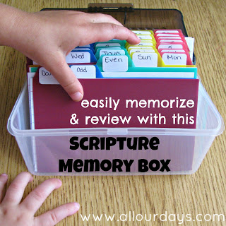 Scripture Memory Box @ AllOurDays.com