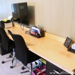 DIY Two Person File Cabinet Desk @ AllOurDays.com