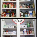 Before and After, My $5 Spice and Baking Cabinet Redo @ AllOurDays.com