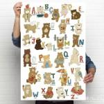 Bears Alphabet Poster @ AllOurDays.com