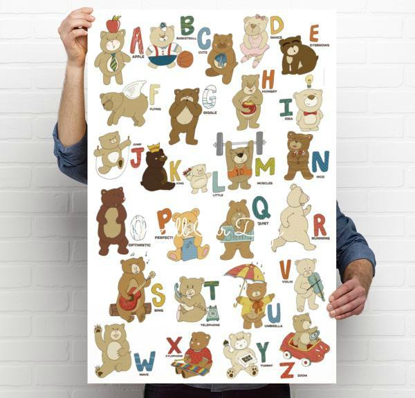 Bears Alphabet Poster {digital file} Sale & Giveaway @ AllOurDays.com
