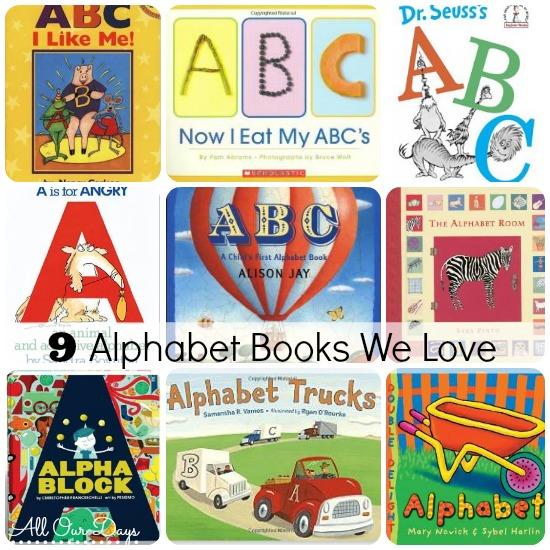 9 Alphabet Books We Love @ AllOurDays.com