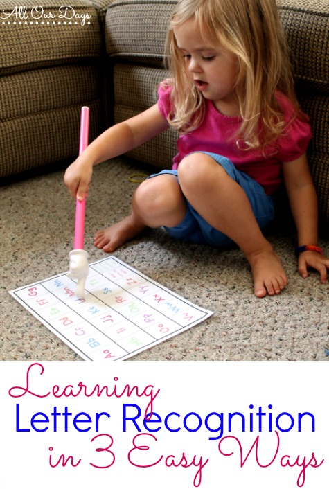 Learning Letter Recognition in 3 Easy Ways @ AllOurDays.com