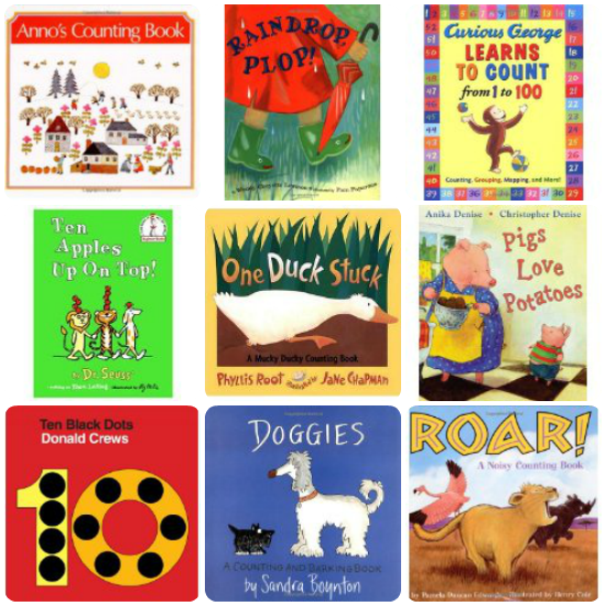 Counting Book Suggestions @ AllOurDays.com {31 Days of Learning with Little Ones} #write31days