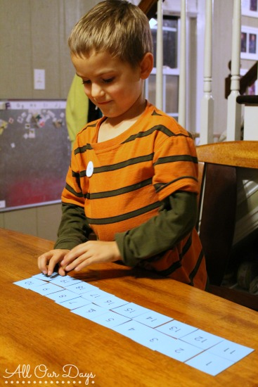 Number Sequencing Cards {31 Days of Learning with Little Ones @ AllOurDays.com}
