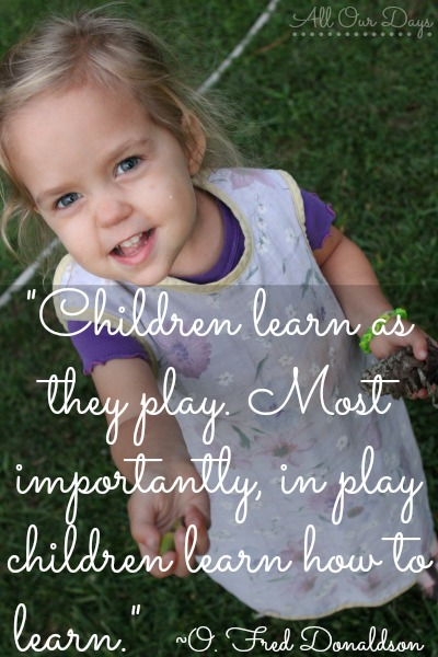Learn as they Play ~O. Fred Donaldson {31 Days of Learning with Little Ones @ AllOurDays.com} #write31days #parenting #learningwithlittles #kids