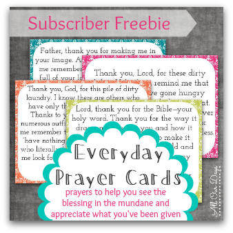 Subscriber Freebie: Everyday Prayer Cards