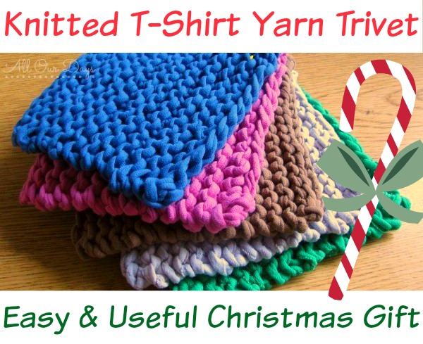 Knitted T-Shirt Yarn Trivets