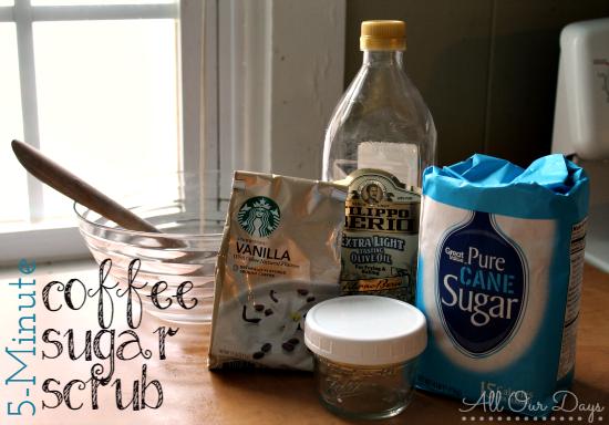 coffee sugar scrub ingredients