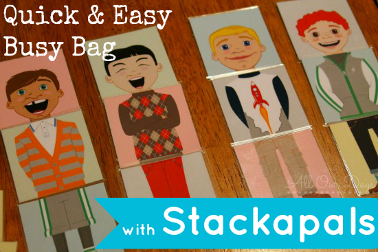 As a busy mom, I'm always on the lookout for anything that could easily be turned into a quiet, independent activity for my little ones. These Stackapals printables make a quick and easy (and adorable) busy bag to keep little ones quietly engaged. Look like something your kids might like? Head on over to see how simple it was to make http://allourdays.com/2015/01/quick-and-easy-busy-bag.html