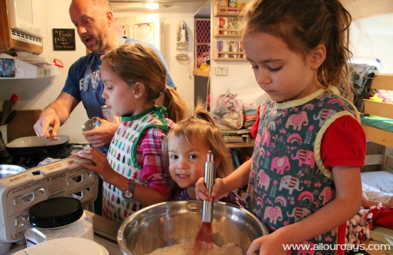 RV Living Cooking with Kids