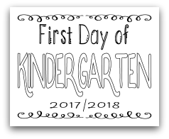 First Day of Kindergarten 8x10 Free Printable First Day of School Sign, Back to School Sign