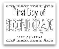 First Day of Second Grade 8x10 Free Printable First Day of School Sign, Back to School Sign