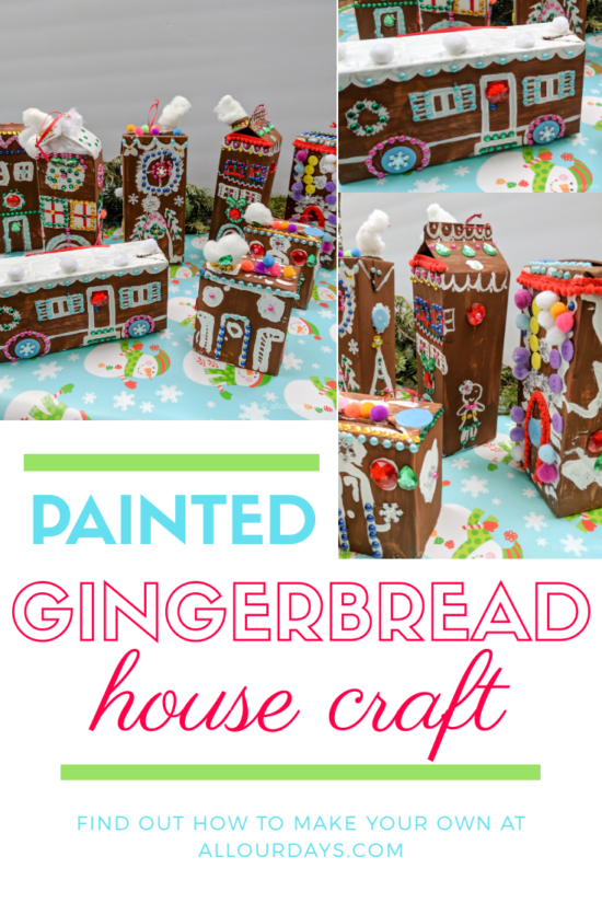 Finished Gingerbread House Craft